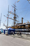 Genoa, Italy: 10 June 2016; Italian Navy Ship, Amerigo Vespucci Stock Image