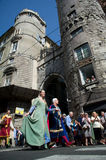 GENOA, ITALY - 8 JUNE 2014 - Unidentified people during the hist Royalty Free Stock Photos