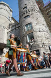 GENOA, ITALY - 8 JUNE 2014 - Unidentified people during the hist Royalty Free Stock Images