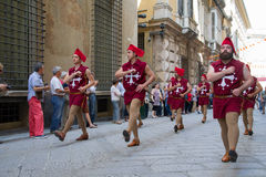 GENOA, ITALY - 8 JUNE 2014 - Unidentified people during the hist Stock Image