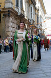 GENOA, ITALY - 8 JUNE 2014 - Unidentified people during the hist Royalty Free Stock Photo