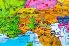 Genoa Italy map Stock Photos