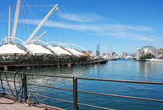 GENOA, ITALY - May 13, 2013: Construction Il Bigo. Royalty Free Stock Photo