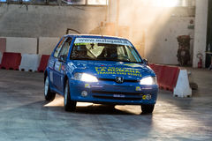 GENOA - ITALY - 5 MAY 2015 - The lanterna indoor rally competition Stock Images
