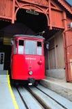 Genoa italy,daily path of the cog railway Stock Photos