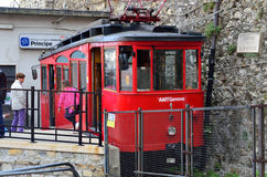 Genoa italy,daily path of the cog railway Stock Photography