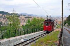 Genoa italy,daily path of the cog railway Stock Photo