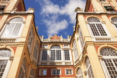Genoa, Italy - Royal Palace, facade from the garden Royalty Free Stock Photo