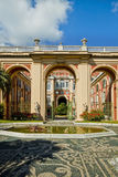 Genoa, Italy - Royal Palace portal and facade from the garden Stock Photography