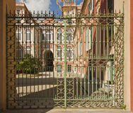 Genoa, Italy - Royal Palace, view fron the garden gate Stock Images