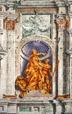 Genoa - Italy, St. George Palace, facade fresco detail Royalty Free Stock Images
