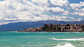 Genoa, Italy, timelapse, sea coast stock video