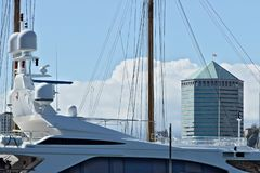 Genoa, Italy. 04/05/2019.  Tower of San Benigno stock images