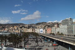 Genoa and its elevated road Stock Photography