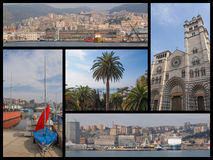 Genoa landmarks collage Royalty Free Stock Photography