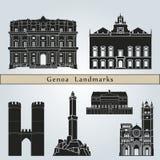 Genoa Landmarks Royalty Free Stock Image