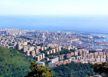 Genoa Landscape. This is a landscape of Genoa, Italy, viewed from its mountains Royalty Free Stock Photos