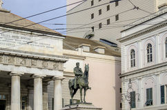 Genoa, liguria, italy, europe, the garibaldi statue Stock Photography