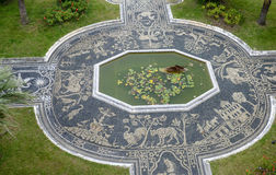 Genoa, liguria, italy, europe, royal palace. View of the mosaic in the royal palace garden in genoa Stock Photos