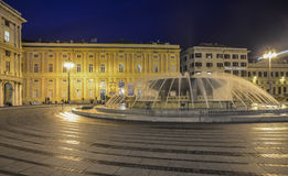 Genoa, liguria, italy, europe, square de ferrari Royalty Free Stock Photo
