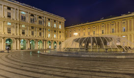 Genoa, liguria, italy, europe, square de ferrari Stock Image