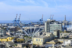Genoa, liguria, italy, europe, from the terrace palace red Stock Image