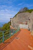 Genoa-Nervi, Italy - Anita Garibaldi sea promenade Stock Images