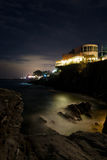 Genoa Nervi by night Stock Images