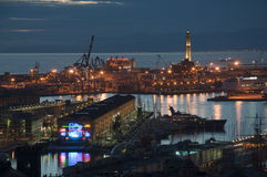 Genoa by night Stock Images