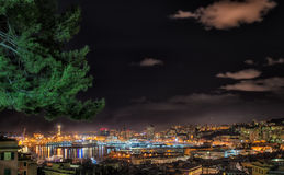 Genoa by night Royalty Free Stock Photo