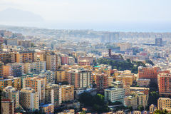 Genoa old city view. From above horizontal royalty free stock photography