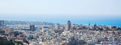 Genoa old city view. From above horizontal stock photo