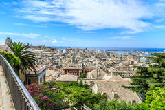 Genoa old city view. From above horizontal royalty free stock photos