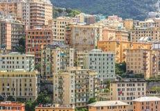Genoa old city view horizontal. In closeup royalty free stock photos