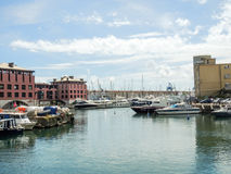 Genoa Old Port. A view towards the Old Port of Genoa royalty free stock photography