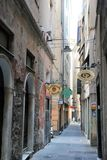 Genoa Old Town, Italy. Narrow street in the Old Town of Genoa, Italy stock images