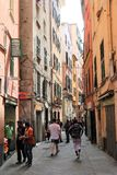 Genoa Old Town, Italy. Narrow street in the Old Town of Genoa, Italy stock photos