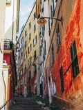 Genoa old town. View of Genoa old town in Italy stock photography