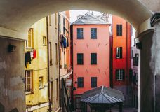 Genoa old town. View of Genoa old town in Italy stock photo