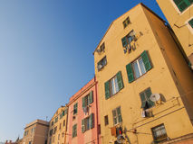 Genoa old town. View of Genoa old town in Italy royalty free stock photos