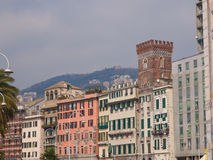 Genoa old town. View of Genoa old town in Italy stock photos