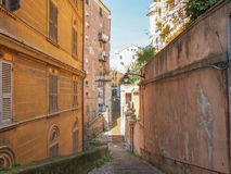 Genoa old town. View of Genoa old town in Italy royalty free stock photo