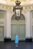 Genoa, palace Nicolosio Lomellino, giant chandelier Stock Photos
