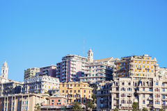 Genoa panorama in the morning Stock Photography