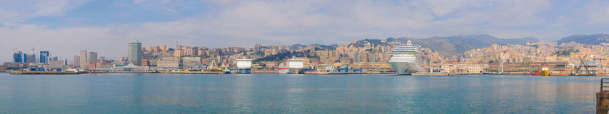 Genoa panorama Stock Image