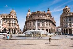 Genoa Piazza Raffaele de Ferrari, the city center. Region Liguria, Italy, Europa stock photo