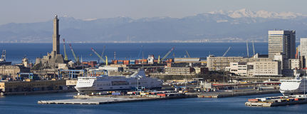 genoa port Royaltyfri Foto