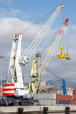 Genoa Port - Dockside gantry crane Stock Photos