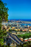 Genoa port view from above, Italy Royalty Free Stock Photo