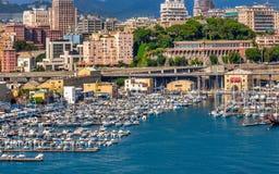 Genoa Port View vom Schiff lizenzfreies stockfoto